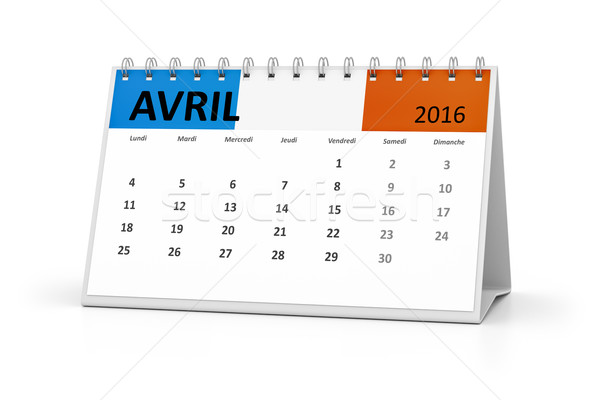 french language table calendar 2016 april Stock photo © magann