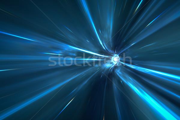 トンネル スペース 3D レンダリング 空 光 ストックフォト © magann