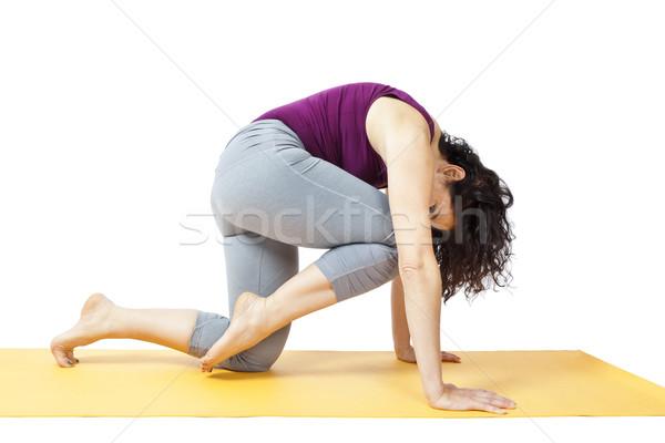 йога женщину изображение красивая женщина девушки счастливым Сток-фото © magann