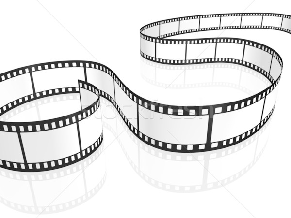 Film strip immagine bianco abstract frame video Foto d'archivio © magann