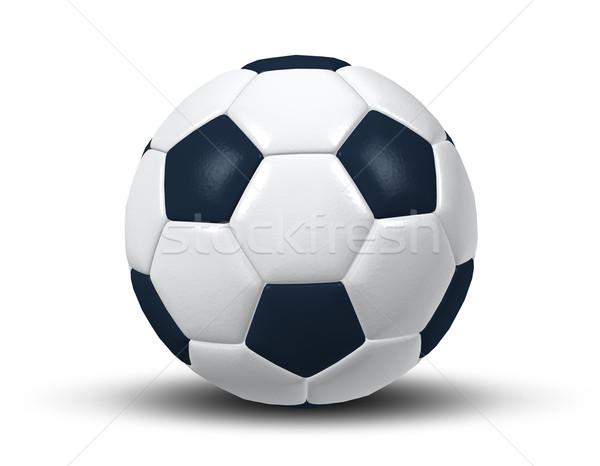 Soccer ball immagine isolato tipico bianco nero texture Foto d'archivio © magann