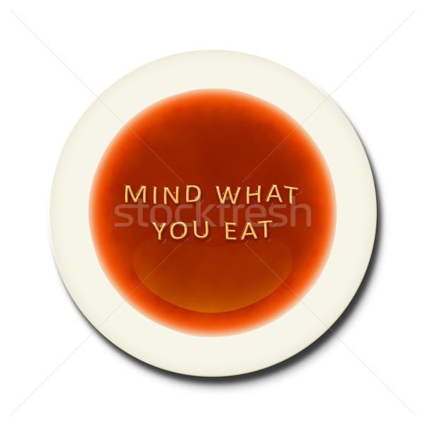 Alfabeto sopa palabras mente qué naranja Foto stock © magann
