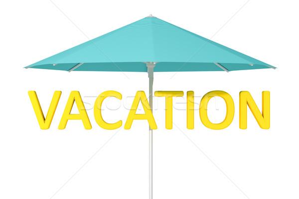 Nap elleni védelem esernyő kép nap háttér zöld Stock fotó © magann