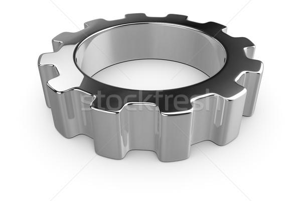 Typisch metaal versnelling 3d illustration bouw ontwerp Stockfoto © magann