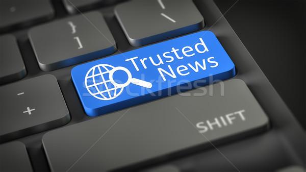 computer keyboard Trusted News Stock photo © magann