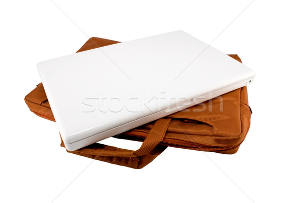 Orange sac blanche portable isolé Photo stock © magraphics