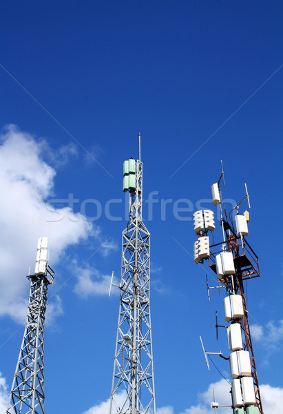 Cellular antennas Stock photo © magraphics