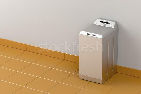 Silver washing machine Stock photo © magraphics