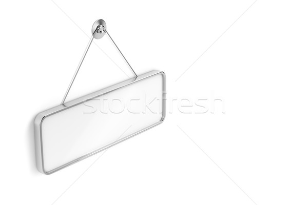 Blank hanging signboard Stock photo © magraphics