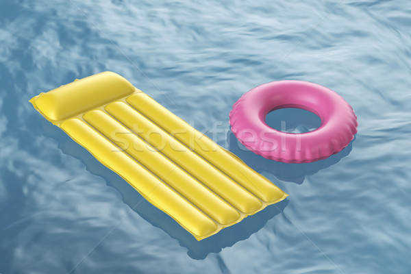 Pool raft and swim ring Stock photo © magraphics