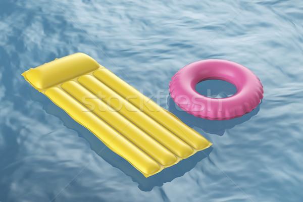 Zwembad vlot zwemmen ring golvend Stockfoto © magraphics