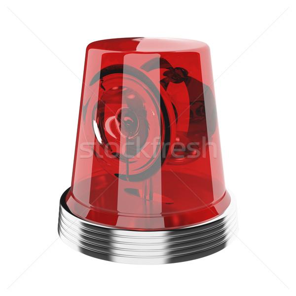 Foto stock: Vermelho · isolado · branco · ambulância · emergência