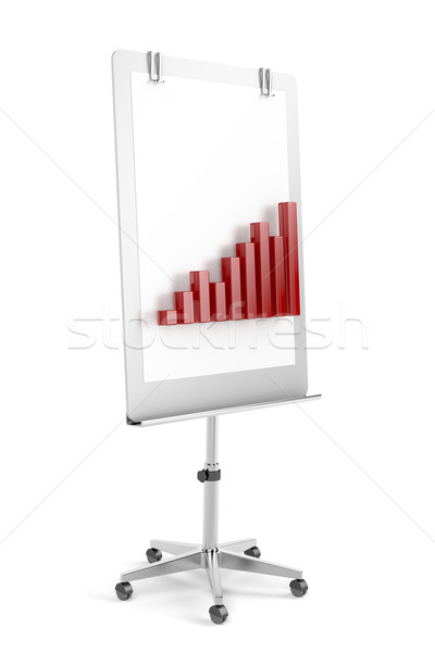 Flip chart with bar chart Stock photo © magraphics