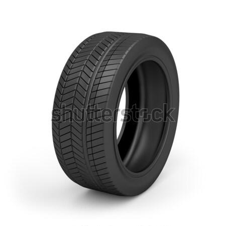 Carro pneu branco automático pneu Foto stock © magraphics