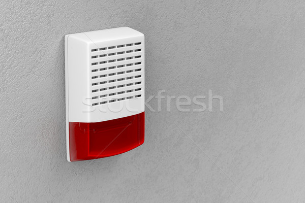 Alarme flash luz anexada parede casa Foto stock © magraphics