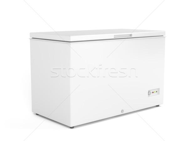 Mellkas mélyhűtő fehér piac áruház hűtőszekrény Stock fotó © magraphics