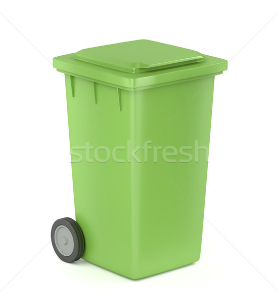 Green trash bin Stock photo © magraphics