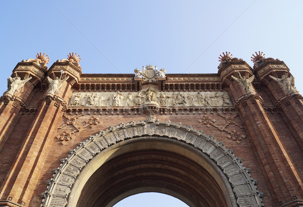 арки Барселона дуга Испания кирпичных Европа Сток-фото © magraphics