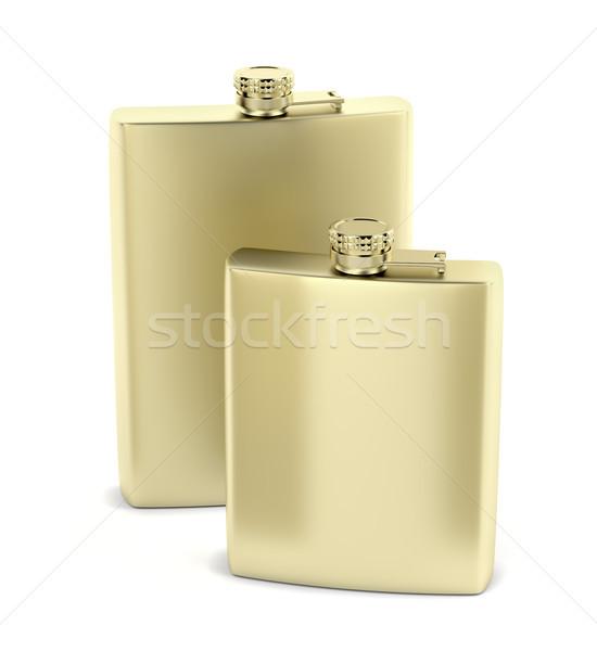 Arany csípő kettő különböző ital konténer Stock fotó © magraphics