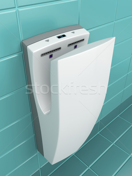 Vertical hand dryer Stock photo © magraphics