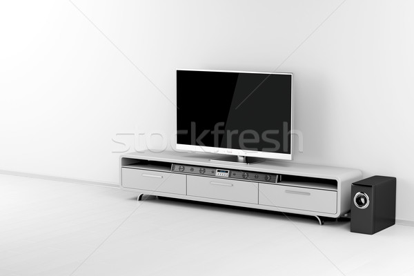 Tv subwoofer écran plat audio stand maison Photo stock © magraphics