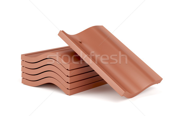 Clay roof tiles Stock photo © magraphics