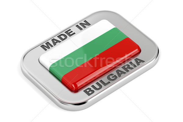ブルガリア 銀 バッジ フラグ ストックフォト © magraphics