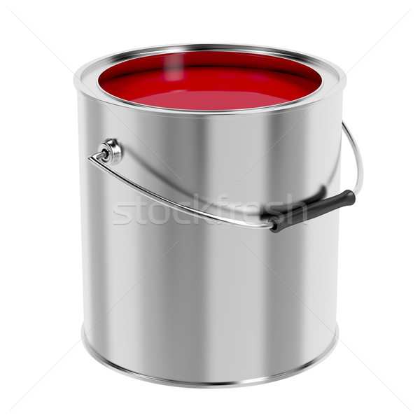 Red paint Stock photo © magraphics