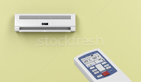 リモート 空調装置 技術 ルーム 緑 白 ストックフォト © magraphics