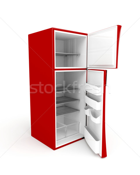 Empty fridge with opened doors Stock photo © magraphics
