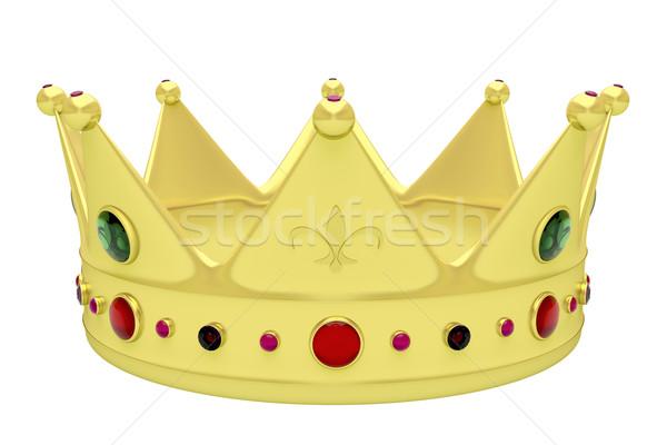 Real coroa isolado branco luxo rei Foto stock © magraphics