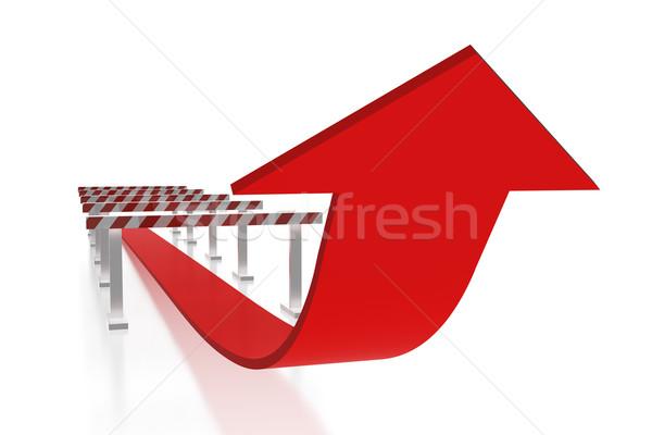 Nyíl akadályok siker üzlet illegális mozgás Stock fotó © magraphics