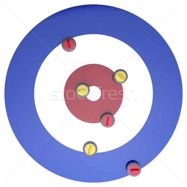 Curling stones on ice Stock photo © magraphics