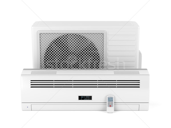 ストックフォト: 空調装置 · 白 · 技術 · クール · 冷たい · 電子