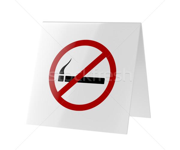 Dohányozni tilos felirat izolált fehér dohányzás műanyag Stock fotó © magraphics