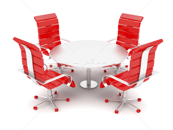 Office armchairs and round table  Stock photo © magraphics