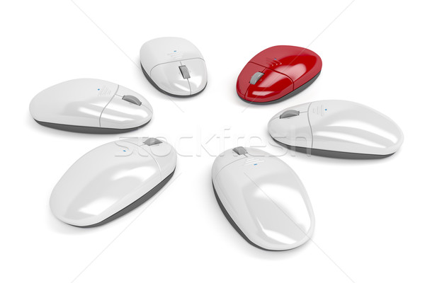 Red computer mouse Stock photo © magraphics