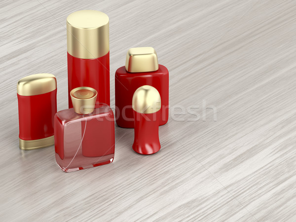 Set of men's cosmetic products Stock photo © magraphics
