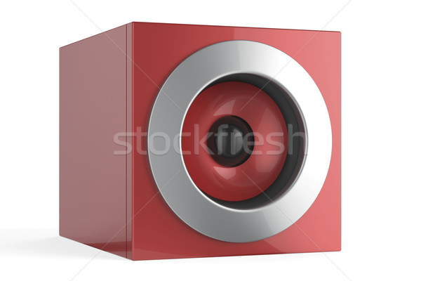 Red speaker Stock photo © magraphics