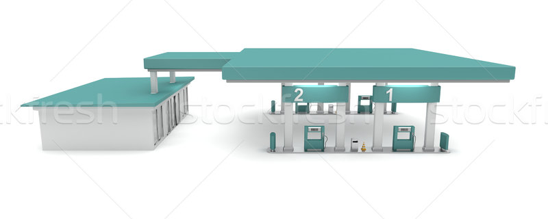 Petrol station Stock photo © magraphics