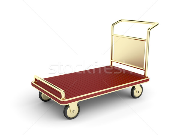 Golden baggage cart Stock photo © magraphics