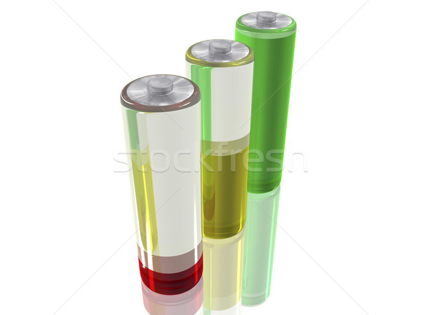 3 Batteries Stock photo © magraphics