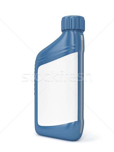 Olio motore bottiglia etichetta bianco olio motore Foto d'archivio © magraphics