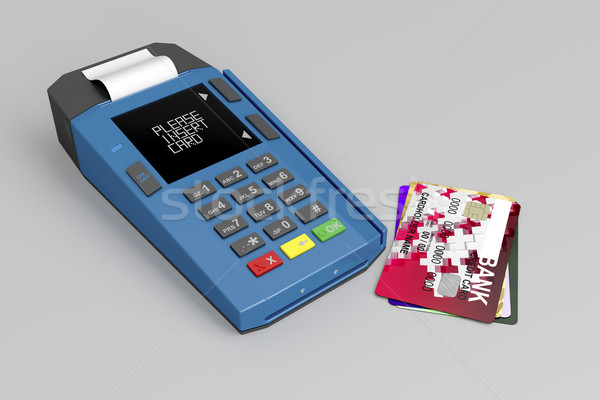 Credit card reader Stock photo © magraphics
