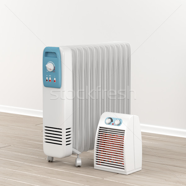Oil-filled radiator and fan heater Stock photo © magraphics