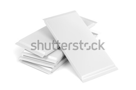 Blank chocolate bar packagings Stock photo © magraphics