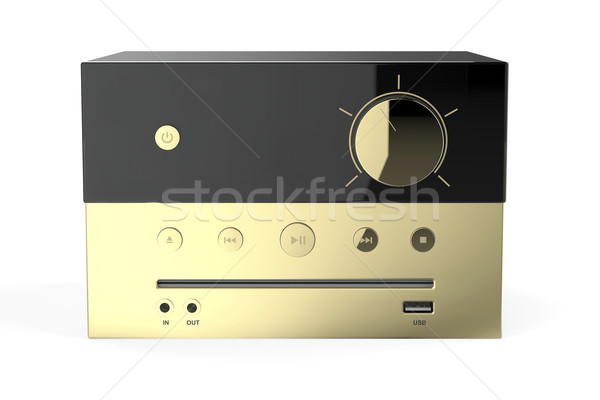 Golden audio system Stock photo © magraphics
