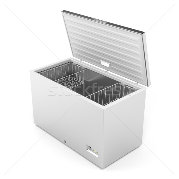 Silver freezer Stock photo © magraphics