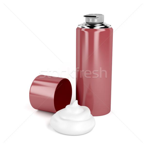 Espuma branco recipiente acondicionamento 3D isolado Foto stock © magraphics