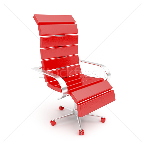 Modern red armchair Stock photo © magraphics